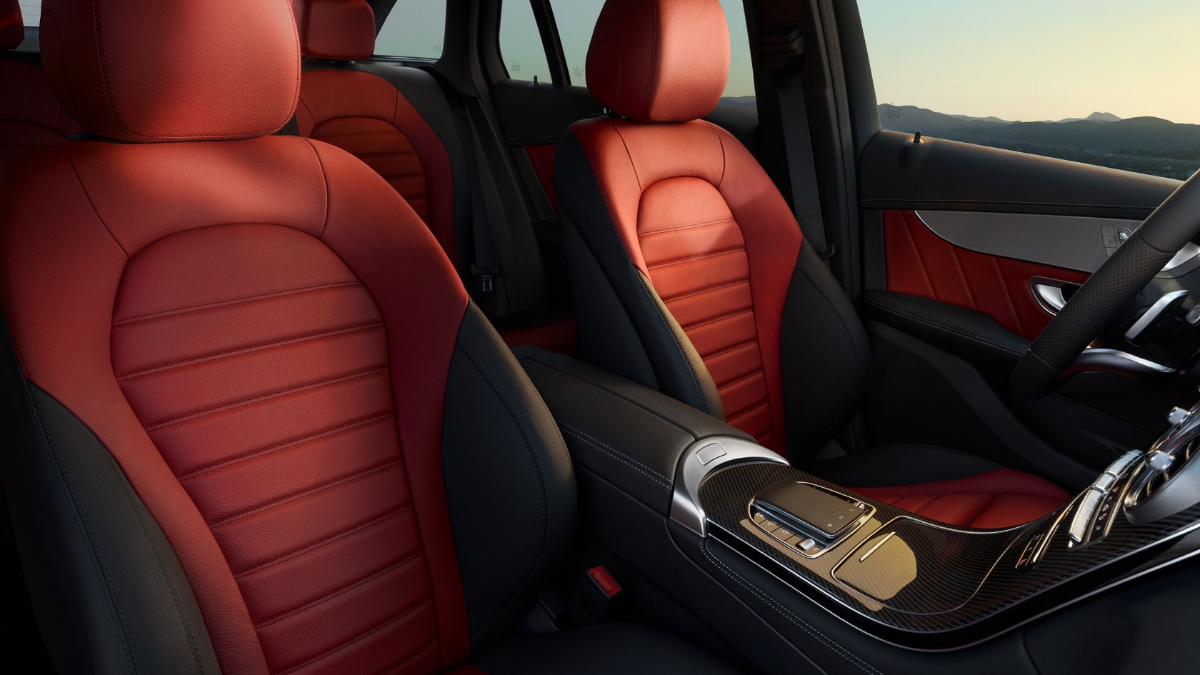 MERCEDES-BENZ Logo Sports Seat Covers for Mercedes GLC CLASS AMG
